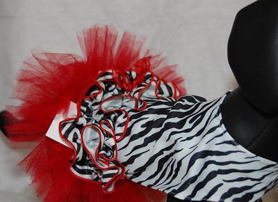 Red Hot Zebra Dress