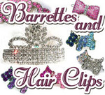 Dog Barrettes and Hair Clips