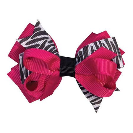 Wild Side Zebra Clip Bows