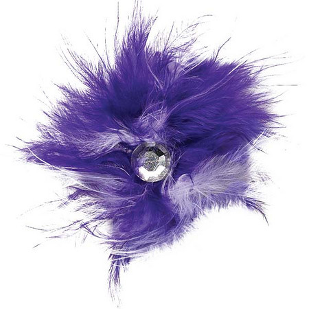 DT160 Feather Dog Bows