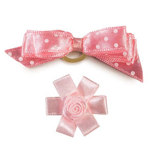 Teacup And Toy Dog Bows Item Number: DT 155  Pastel Pink Sugar Pie Dog Bow