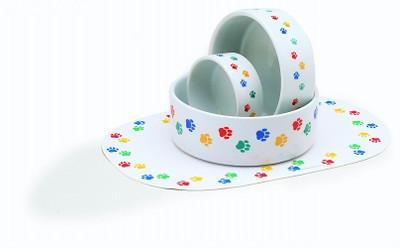 Paw Print Food & Water Bowls