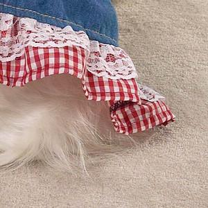 Red Ruffle Summer Dog Dress ZW6539