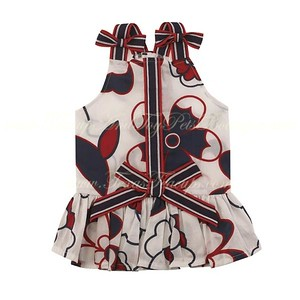 Item Number # PE US6806 American Puppy Dog Dress  All-American Sundresses gives any true-blue dog a fresh nautical look. Made of machine-washable cotton in a fun, flirty design.
