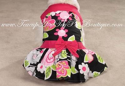 Dog Apparel Retro Floral Dog Sundresses Item Number # US 6827 Retro Floral Dog Dress