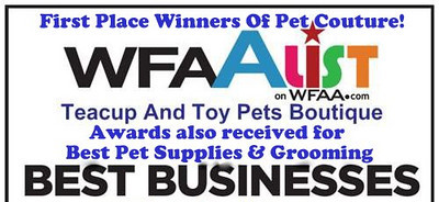 We were voted # 1 Best Pet Business in Texas by WFAA