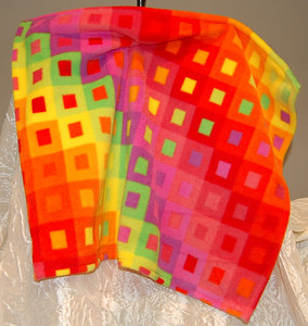 Discription: Rainbow Square Puppy Blanket Item Number & Price Option: # 3 Color: Rainbow Colors Temporary Out Of Stock