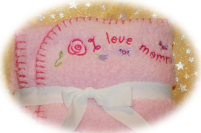 """Discription: Thick Fluffy Blanket Item Number & Price Option: # 2 Color: Pink """" I love Mommy """"  Click Here >( http://www.teacuppetboutique.com/Pet_Supply_Order_Form.php )< To order this item or request additonal information."""