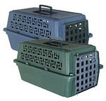 Pet Escort Travel Crate Has a Plastic Door and is not airline approved.