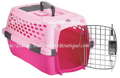 Pink Pet Mate Travel Carrier is airline approved.