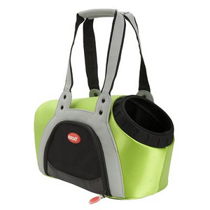 """ARGO ARGO Action Petpack Carrier Kiwi Green SIZE: Small STYLE: AC10376S COLOR: Kiwi Green PRICE: $98.00 Pet Supply Coupons also available on our main web site. * Hip, Adorable and Trendy Design * Ultra light weight * Innovative carrier design tapered to your pet's body * Rugged 840 denier nylon exterior * Quality molded EVA for total support * Double handled for increased shoulder support and padded for supreme comfort * Ample Peek-A-Boo opening for pet's head * Collar attachment to secure pet to carrier * Dual layer mesh windows on both sides * Water resistant padding in bottom of carrier * Actual Measurements: 15"""" L x 8.5"""" W x 9.5"""" H  * Product actual weight: 2.10 lbs.  THE HEIGHT OF FASHION IN PET CARRIERS  With perfect asymmetric design and handbag style, this is the best city tote for your pampered pooch. Arrive in style no matter where you are headed with your doggie sidekick. Unlike competitors' standard and bland carriers, the fashionable Peek-A-Boo is shaped to fit a pet's body, offering the ultimate in comfort and snugness. Large enough that your pooch can sit down or stand, with ample room to move around, and a Peek-A-Boo hole to enjoy the scenery. In your choice of four delicious colors – petal pink, tango orange, kiwi green and berry blue.  THE ULTIMATE URBAN CARRIER: Our innovative pet carrier is casually chic and very light. Made of quality 840 denier nylon fabric and sporting dual layer mesh ventilated windows. High quality padded shoulder straps make the Peek-A-Boo carrier the best choice for supporting your shoulders and reducing back pain.  DESIGNED TO IMPRESS – BUILT TO LAST For a day of designer shopping or a late lunch with friends, take your diva doggie along in a fashionable tote carrier. The strong denier nylon exterior is built to last and cleanup is a snap; just rinse with water and you are done! The ventilated carrier keeps your pet secure and calm; the fleece lined interior cocoons your pet in comfort and softness."""