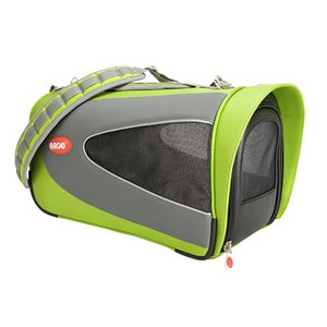 "ARGO Petascope Carrier  Item Number: AC50376S SIZE: Small Color: Kiwi Green Price: $99.00 ------------------------------ * Quality made from 840 denier nylon fabric * Water resistant base padding offers total pet comfort during transport * Dual layer mesh windows on ALL sides for ventilation and pet visibility * Easy-Out! Large front zipper opening for quick access * Ultra lightweight design – Comfortable for pet parents too! * Easy to clean – Just rinse with water     Actual Measurements: 16"" L x 11"" W x 9.25"" H  Net weight: 3.06 lbs."