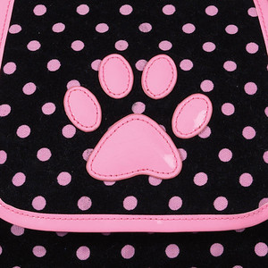 Our most popular pet carrier! Deco Dot Pet Carriers Soft Sided Dog Carrier Style: Top Opening Soft Side Dog Carrier COLOR: Black with Hot Pink Polka Dots Item Number: US747