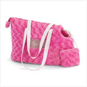 Plush Pink Dog Carrier