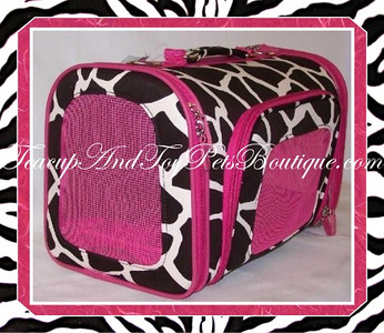 Soft Sided Pet Carriers ( Animal Print )