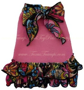 Item Number # ISS 965492 FLORAL DRESS Pet Supply Directory with detailed information about our most popular pet products. Click here >http://www.teacuppetboutique.com/Pet_Supply_Directory.php  Or for online shopping cart Click Here > http://www.shop.texasteacups.com
