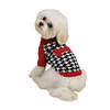 Fuzzy Pink Dog Sweater <br /> Item Number # ZA206<br /> COLOR: Black & White With Red Bone