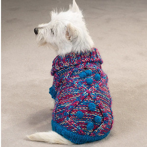 Luxury Knit Dog Sweater  Item Number # ZM4069 COLOR: Blue