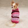 Dog Sweater <br /> Item Number # ZA409<br /> COLOR: Pink & Burgundy