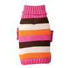 Dog Sweater <br /> Item Number # US483<br /> COLOR: Pink & Brown