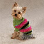 Dog Sweater  Item Number # ZA679 COLOR: Green, Pink, Black