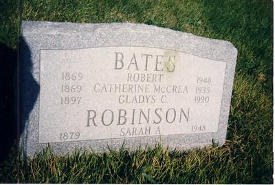 Robert  Catherine Bates Gravestone
