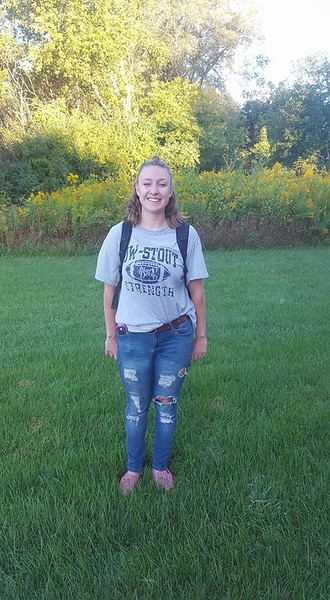 2017 Heidi 1st day college senior