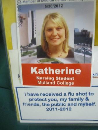 Katie  flu shot promo