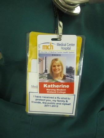 Katie   flu shot badge