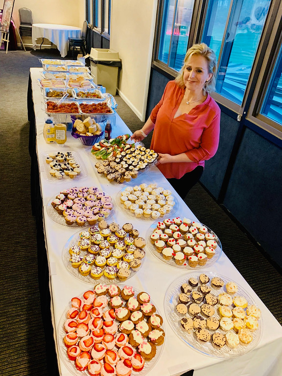 . Christine Howard of Chelmsford with all of her homemade tasty treats