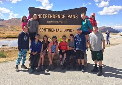 Team Elbert: Middle School Outdoor Ed Fall 2018