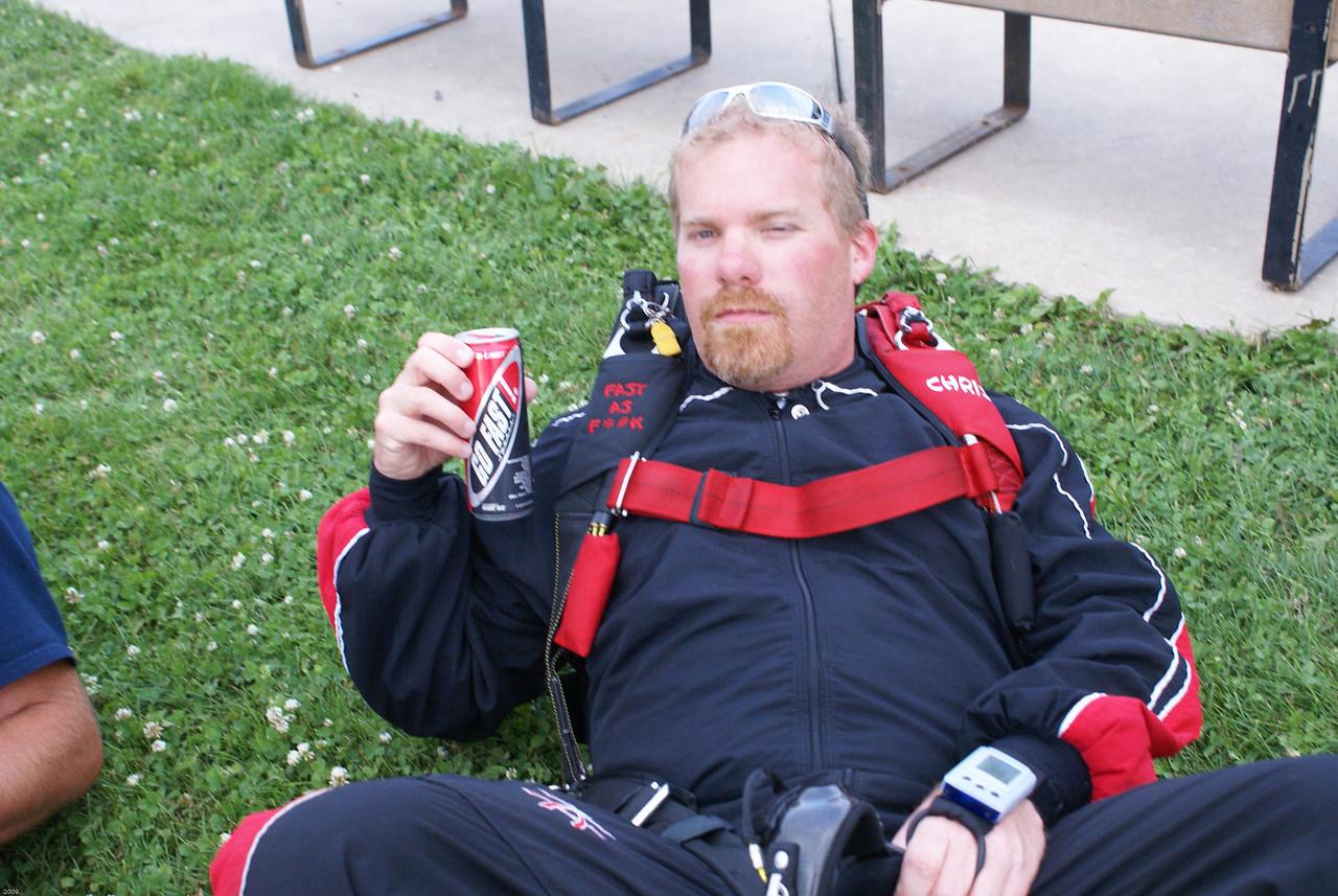 """Chris Derham aka """"Budda""""<br /> Drink Go Fast and be Fast As F*#K"""