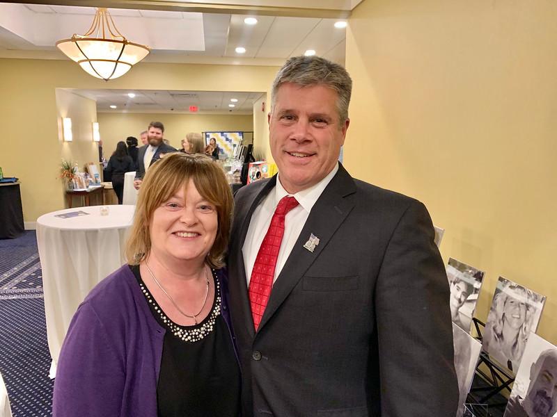 UMass Lowell's Kathleen Tormey and Mayor John Leahy, both of Lowell