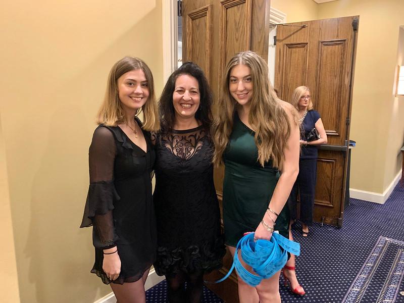 Jackie Zegowitz with daughters Nicole Zegowitz, left, and Abbie Wilson, all of Westford