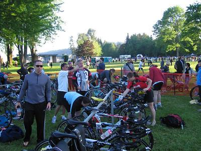 John in pre-race set up mode.