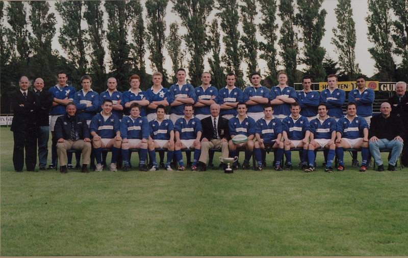 St. Mary s R.F.C.<br /> <br /> Trophy: McCorry Cup (Under19, Under20)<br /> <br /> President: D. Coleman<br /> <br /> Captain: J. Ellis<br /> <br /> Coach: J. Parkes<br /> <br /> Assistant Coach: A. McEvoy<br /> <br /> Assistant Manager: P. McLoughlin<br /> <br /> Players: Back Row: P. Horgan, A. McEvoy, K. Potts, D. Kilbride, K. McInnerney, J. McInnerney, A. Copeland, P. Ryan, K. Stanley, S. Cusack, R. Andreucetti, J. Kennedy, A. Coughlan, G. Crawford, I. Masood, P. McLoughlin<br /> Front Row: B. Roantree, D. Burke, B. McCormack, S Hicks, B Lynn, D Coleman, J Ellis, G O'Brien, K Campbell, S Nagle, C Connolly, J Parkes