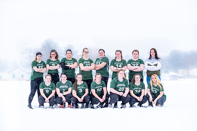 J.V Green Softball team: Front Row (L to R): Rachel Newcomb, Riley Tripp, Cassidy McClendon, Briana Casey, Madison Brown, Kaitlyn McKinnon, Jazmin Ney Back Row (L to R): Lauren Kimball, Chloe Truman, Alora Gordon, Christa Allen,  Krysten Morse, Sarah Metcalf, Makayla Brown