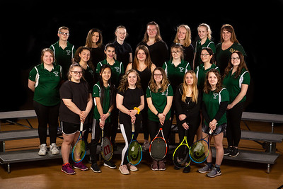 Girls Tennis Front Row (L to R): Hanna Ney, Yuping Wen, Emily Dennison, Olivia Rowe, Mariah Skidgel, Sydney Youngs 2nd Row (L to R): Chloe Grant, Madeline Priola, Marla Tanous, Katherine Haley, Hunter Roast, Megan Mitchell, Paige Lord Back Row (L to R): Zach Bartlett, Ava Szott, Elizabeth Johnson, Courtney Hinkley, Cassidy MacIsaac, Ashley Mcallister, Elizabeth Youngs Not pictured: Sasha Larson and Culiandra Nero