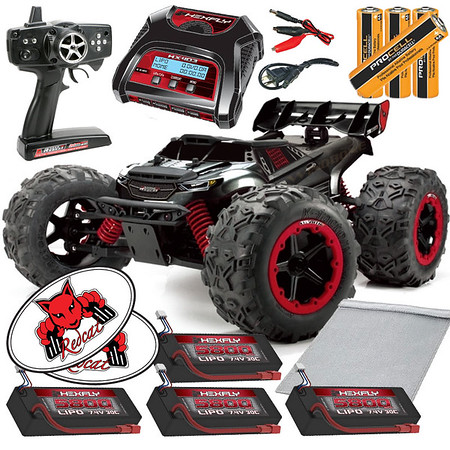 Team-Redcat-TR-MT8E Hexfly Balance x4 LiPO Pack Bundle