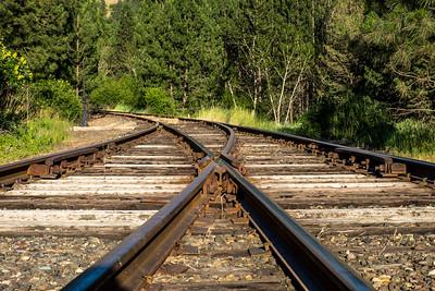 Finally we reach the rails.