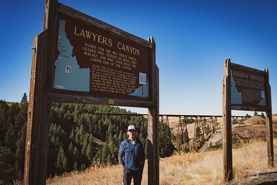 Joe at Lawyers Canyon, Idaho