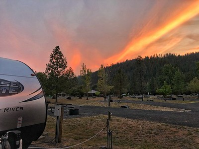 Sunset at The Pink House Campground outside Orofino, Idaho. iphone photo