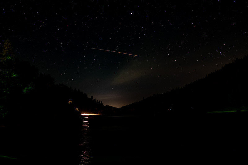 Shooting Stars in the night skies of Idaho.