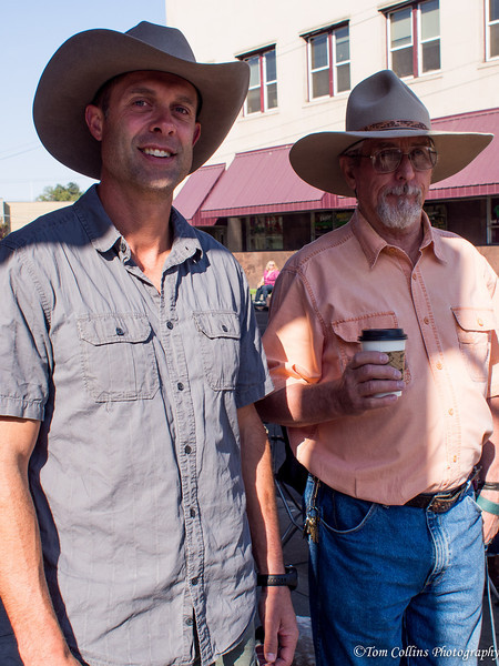 Here's George with the owner and hatter of the Montana Peaks Hat Co.,