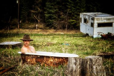 George in the Bath Tub.
