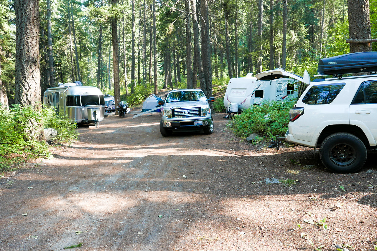 Base Camp at Oriole Campground north of Conconully, Washington.