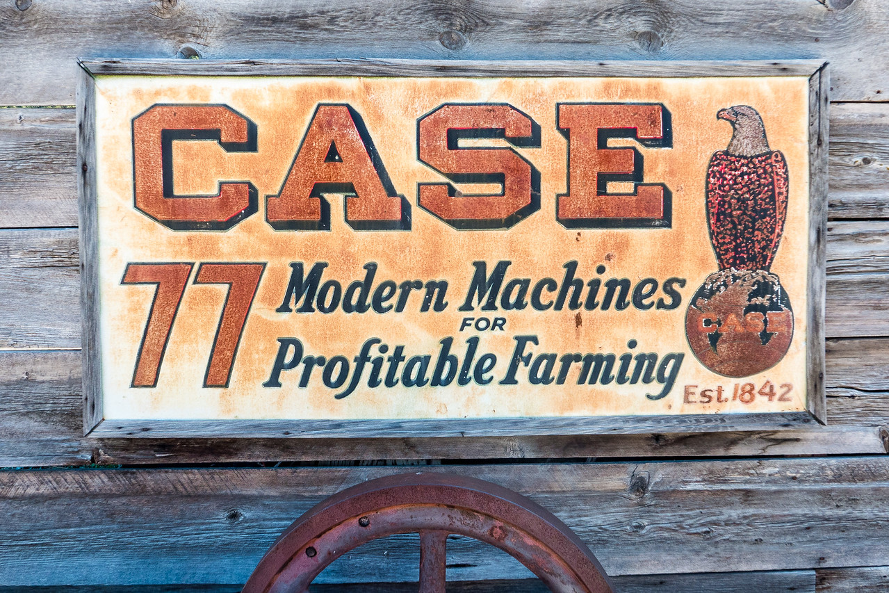 Cool old sign for Case Tractors
