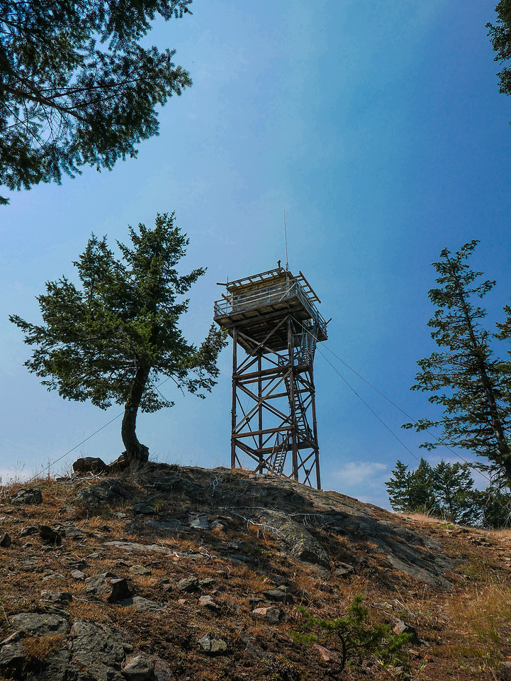 Fire lookout atop Funk Mountain (5,122feet).