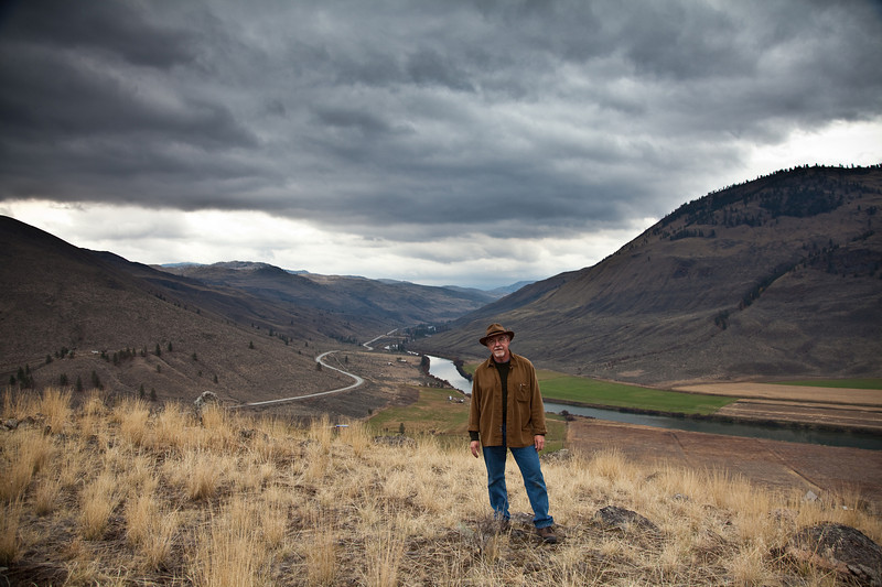 Self Portrait near Nighthawk, WA and the Similkameen River.  Okanogan County.