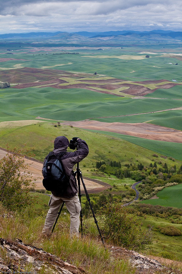 George shooting from Steptoe Butte, Colfax, WA